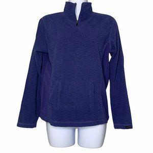Columbia Blue Fleece Pullover Medium Pouch Top